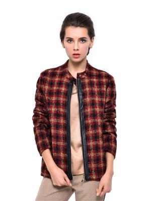 Куртка MORU. Цвет: черный, темно-красный