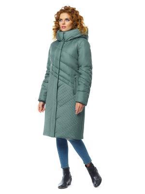 Пальто D`imma. Цвет: зеленый