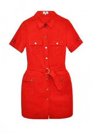 Платье Bergamoda. Цвет: красный
