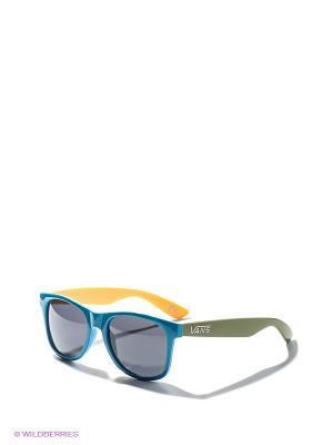 Солнцезащитные очки VANS. Цвет: зеленый, голубой, желтый