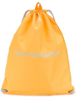 Спортивная сумка Gosha Rubchinskiy x Adidas Originals. Цвет: жёлтый и оранжевый