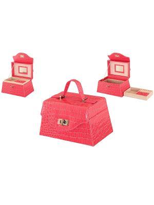 Шкатулка Ярко-розовый чемоданчик Elan Gallery. Цвет: розовый