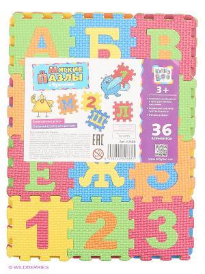 Пазлы с буквами, 36 элементов Kribly Boo. Цвет: красный, оранжевый, желтый, синий, зеленый