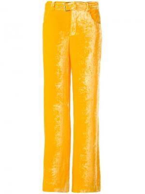 Широкие брюки с поясом Arthur Arbesser. Цвет: жёлтый и оранжевый