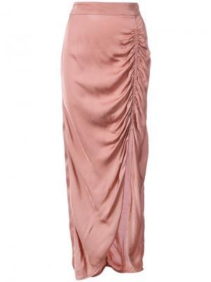 Юбка с декоративной сборкой Raquel Allegra. Цвет: розовый и фиолетовый