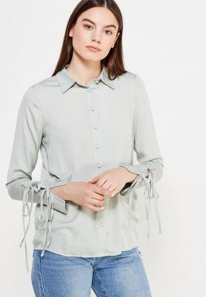 Блуза LOST INK. Цвет: зеленый