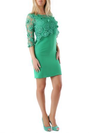 Платье Cristina Gavioli. Цвет: green