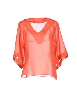 Блузка F**K PROJECT. Цвет: коралловый