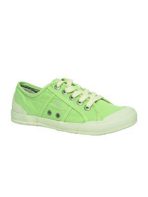 Кеды TBS. Цвет: светло-зеленый