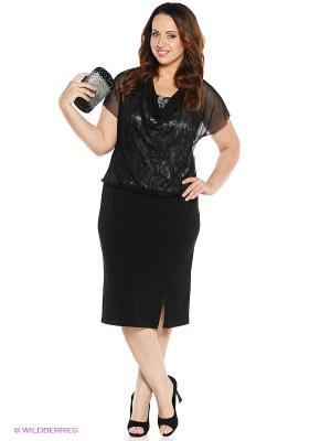Платье VENUSITA. Цвет: черный, серый