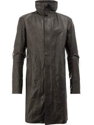 Пальто с высоким воротом Isaac Sellam Experience. Цвет: коричневый