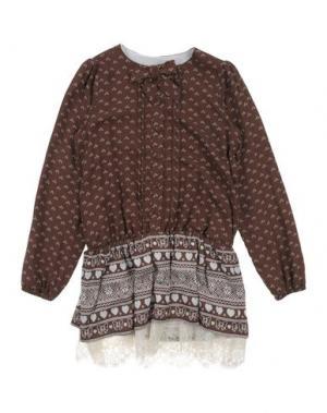 Платье MINIFIX. Цвет: коричневый