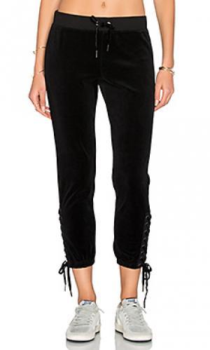 Спортивные брюки на шнуровке Pam & Gela. Цвет: черный