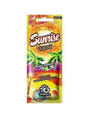 Крем для загара в солярии Sunrise с маслом апельсина, экстрактом алоэ и бронзаторами Solbianca. Цвет: бежевый