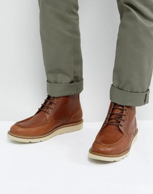 Dead Vintage Коричневые кожаные ботинки на шнуровке. Цвет: черный