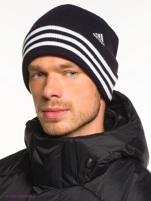 Шапка Adidas. Цвет: черный, белый