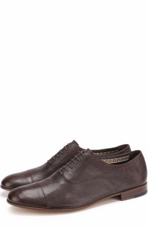 Классические кожаные оксфорды Fratelli Rossetti. Цвет: темно-коричневый