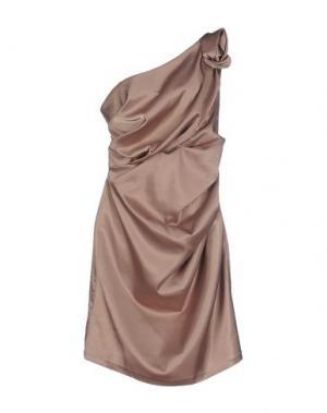 Короткое платье SOOZ BY ISABEL C.. Цвет: бежевый