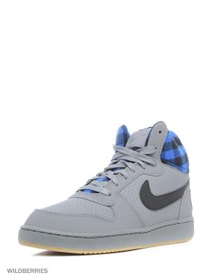 Кеды NIKE COURT BOROUGH MID PREM. Цвет: серый