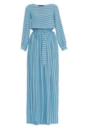 Платье из вискозы с поясом 169804 Demurya Collection. Цвет: синий