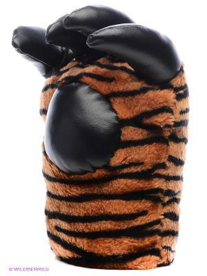 Варежки-лапки Тигр Экспедиция. Цвет: оранжевый