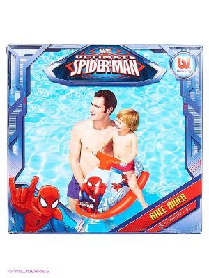 Надувное  игр.скутер Спайдермен размер 89на46 см Bestway. Цвет: синий, красный