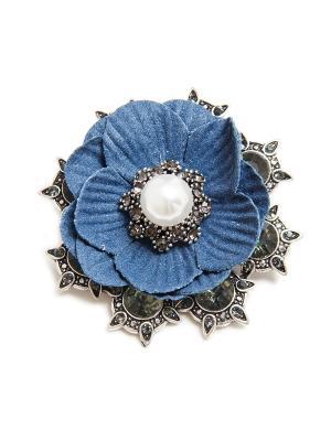 Брошь Asirelly. Цвет: синий, белый, серебристый
