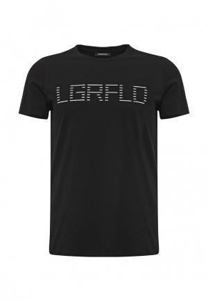 Футболка Lagerfeld. Цвет: черный
