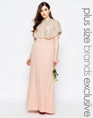 Fame and Partners Plus Платье макси. Цвет: розовый