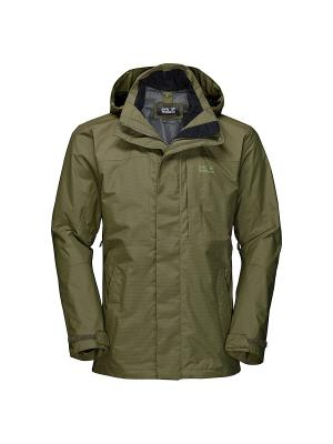 Куртка BROOKS RANGE FLEX Jack Wolfskin. Цвет: оливковый