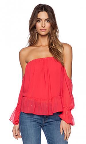 Топ с длинным рукавом T-Bags LosAngeles. Цвет: оранжевый