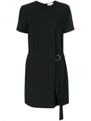 Платье с поясом Carven. Цвет: чёрный