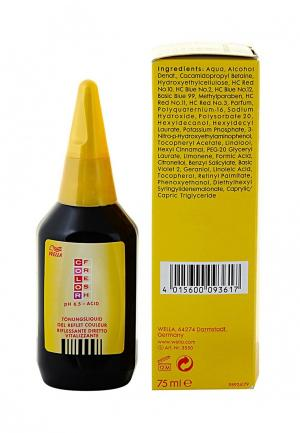Оттеночная краска 3/66 Wella. Цвет: желтый