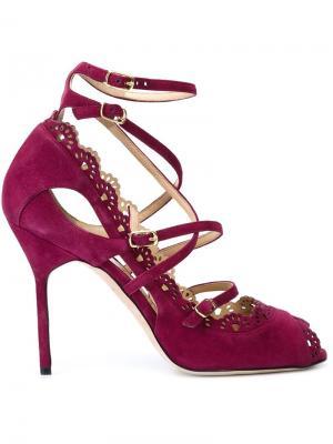 Туфли Marina Marchesa. Цвет: розовый и фиолетовый