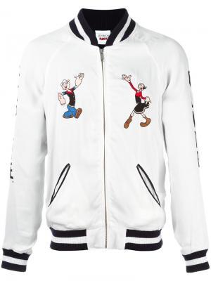 Куртка Popeye & Olive Souvenir Joyrich. Цвет: белый
