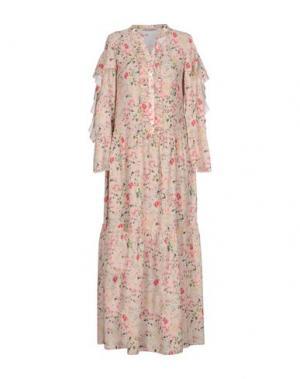 Длинное платье PAOLO CASALINI. Цвет: бежевый