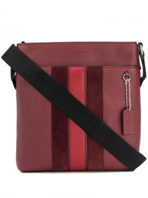 Полосатая сумка на плечо Coach. Цвет: красный