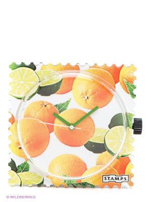 Часы S.T.A.M.P.S.. Цвет: оранжевый, светло-зеленый, белый