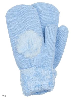 Варежки Modis. Цвет: голубой