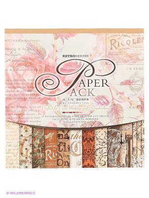 Наборы для скрапбукинга. Набор бумаги Королевские розы 30.5см*30.5см (024-SB) Белоснежка. Цвет: белый