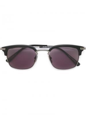Солнцезащитные очки в квадратной оправе Dita Eyewear. Цвет: чёрный