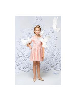 Платье персиковое с пайетками Gioia di Mamma