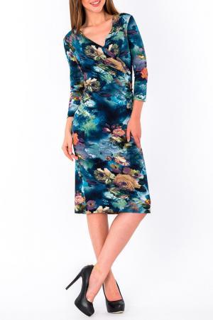 Платье S&A style. Цвет: сине-оливковый