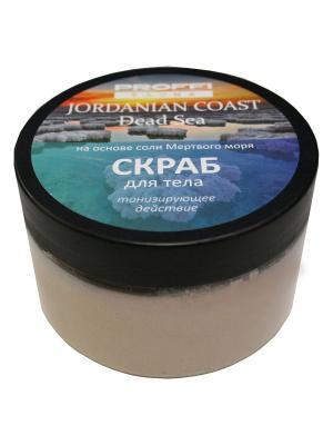 Скраб соляной для тела (пастообразный с солью Мертвого моря), 350 г PROFFI. Цвет: бежевый