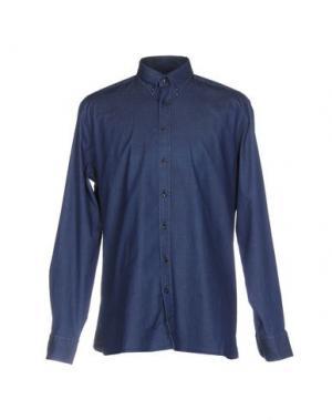 Джинсовая рубашка HACKETT. Цвет: синий