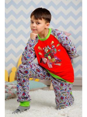Пижама KitFox. Цвет: серый
