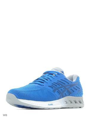 Кроссовки fuzeX ASICS. Цвет: голубой, серый, синий