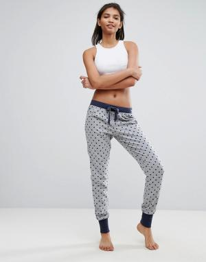 Esprit Пижамные штаны в крапинку. Цвет: серый