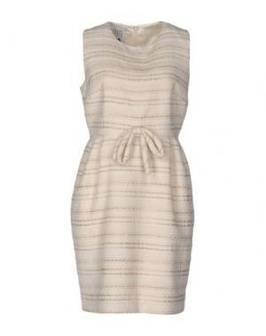 Платье до колена EDWARD ACHOUR. Цвет: бежевый