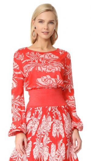 Блуза Melancia Pepa Pombo. Цвет: знаменитость/бежево-кремовый